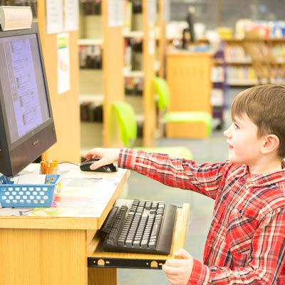 Child using catalog