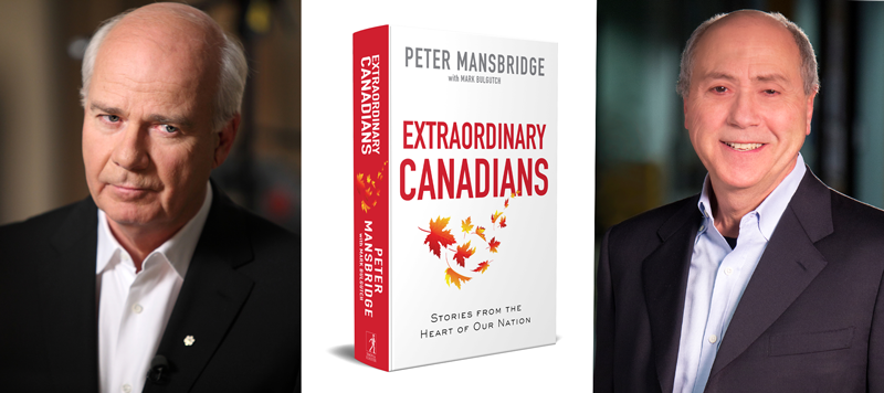 Peter Mansbridge, cover of Extraordinary Canadians, Mark Bulgutch